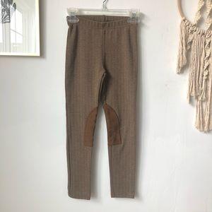 Ralph Lauren riding pants leggings w/ leather knee